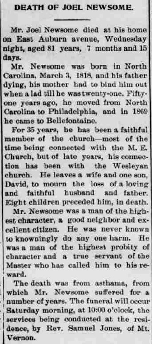 Death of Joel Newsome
