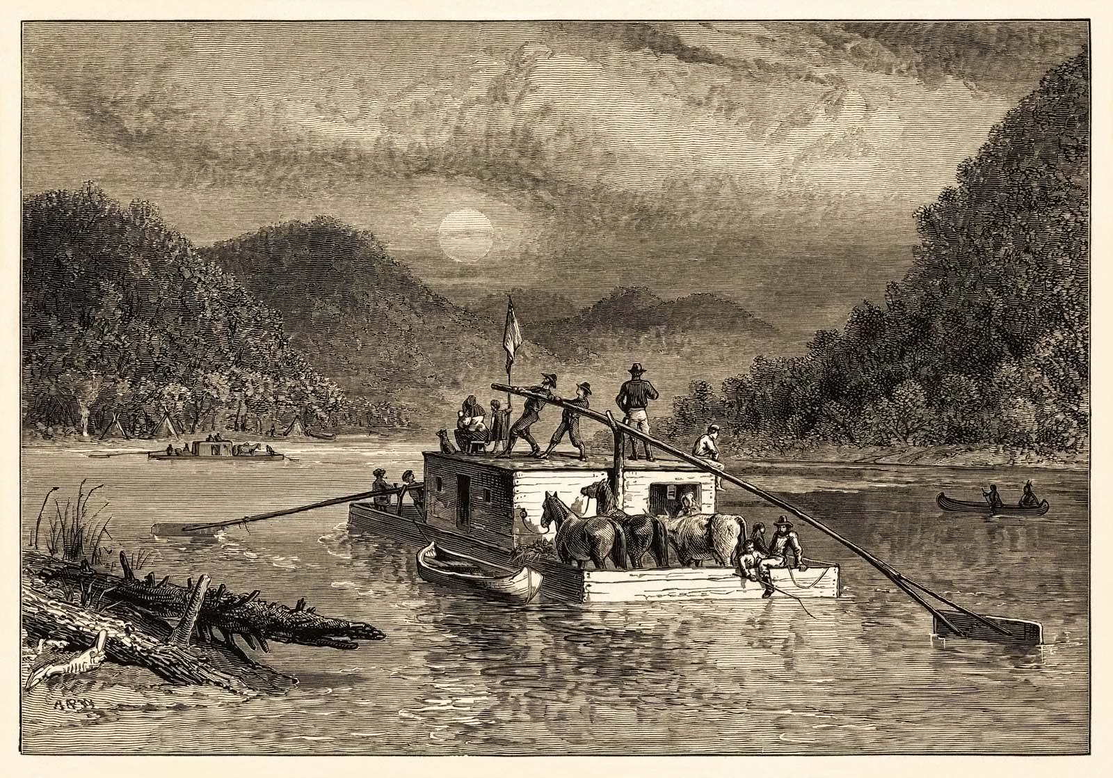 Floatboat on the Ohio