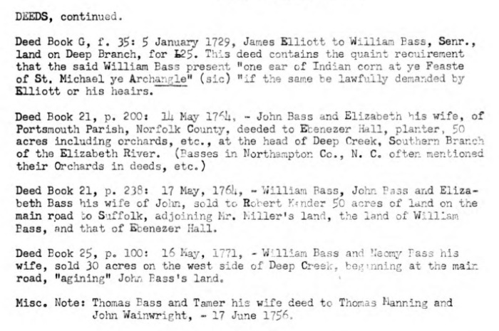 BFotS Thomas Bass Deed