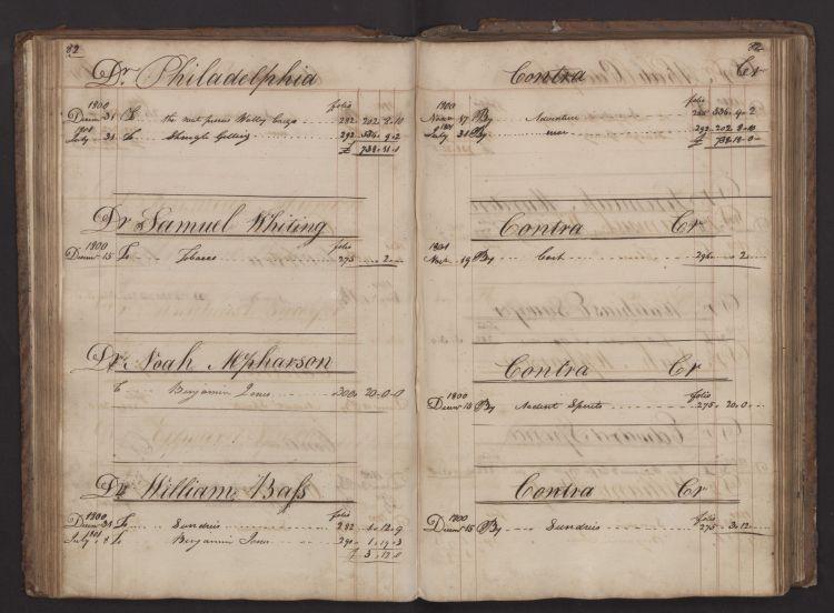 William Bass 1800-1802 Ledger