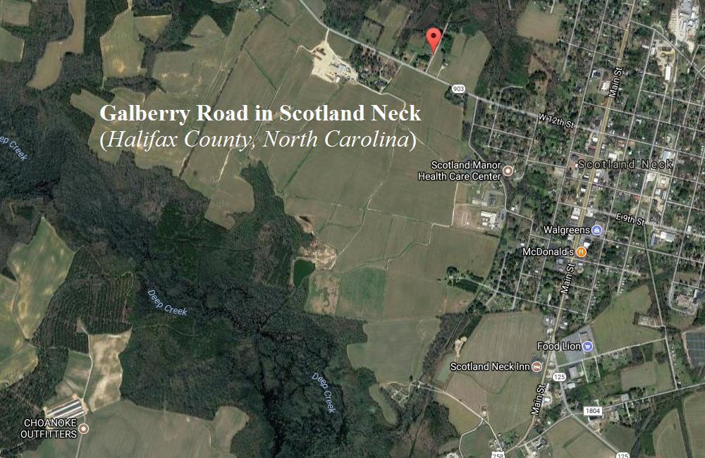 Galberry Road in Scotland Neck