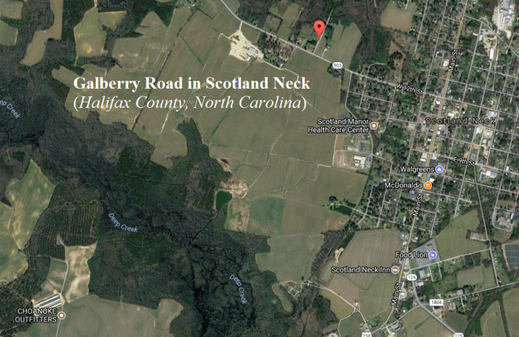 Galberry Road in Scotland Neck