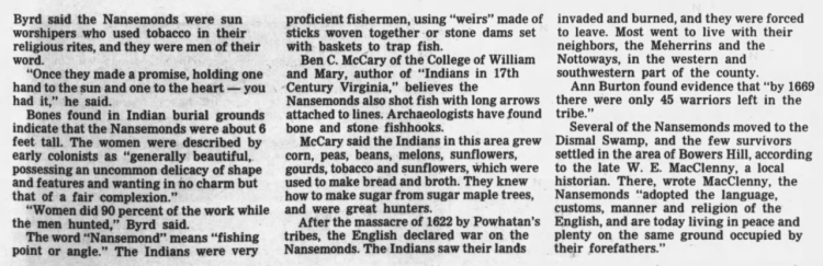 Jim Byrd Interview 1984