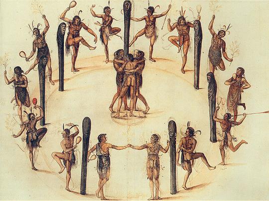 A Festive Dance by John White 1585-1593